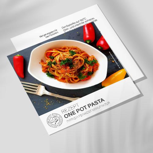 Rezeptkarte - One Pot Pasta