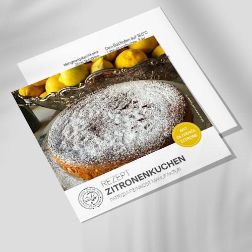 Rezeptkarte - Zitronenkuchen