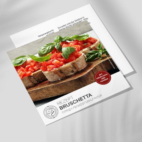 Rezeptkarte - Bruschetta