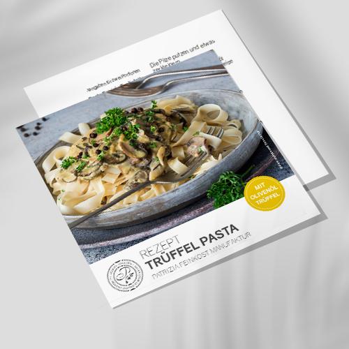 Rezeptkarte - Trüffel Pasta